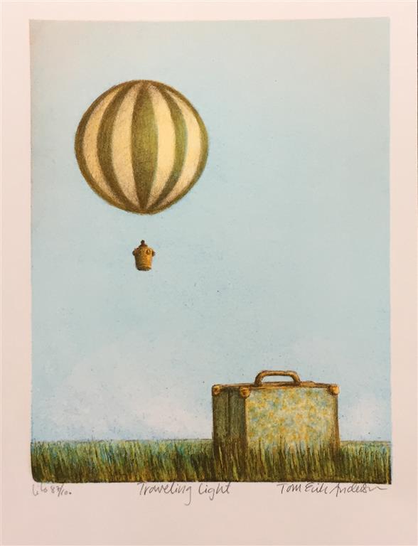 Traveling light Litografi (26x20 cm) kr 900 ur