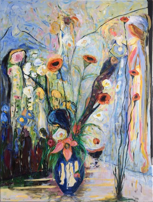 Kvinneduft Akrylmaleri (120x90 cm) kr 14000