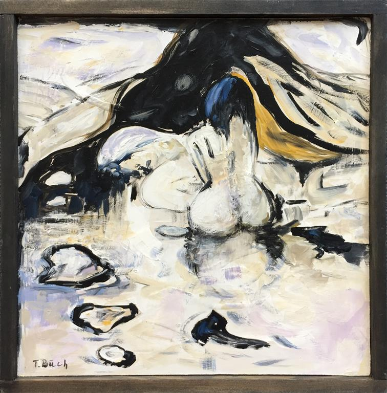 Skisse V Akrylmaleri (30x30 cm) kr 1800