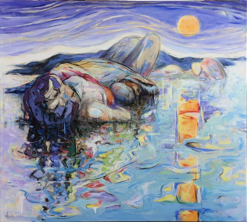 Svaberg Akrylmaleri (90x100 cm) kr 11000