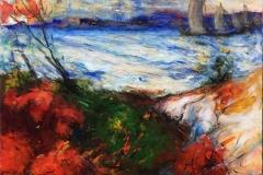 Frisk bris Akrylmaleri (80x80 cm) kr 8000