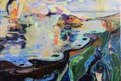 Klippen Akrylmaleri (100x120 cm) kr 15000
