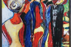 Korøvelse Akrylmaleri (90x61 cm) kr 6000
