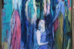Kvinner I Akrylmaleri (90x61 cm) kr 6000