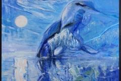 Odden Akrylmaleri (90x100 cm) kr 11000