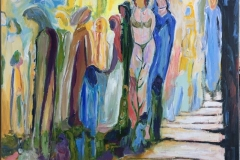 Strandbilde Akrylmaleri (120x90 cm) kr 15000