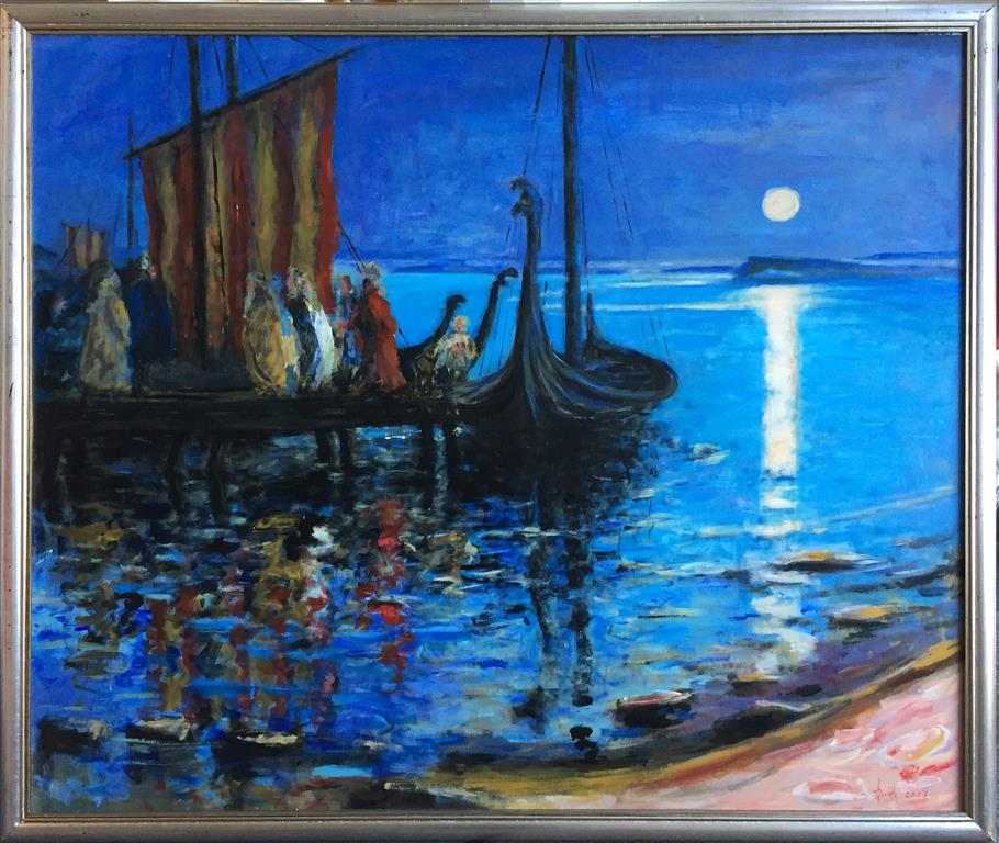 Dronning Åsa Akrylmaleri (80x96 cm) kr 11000 mr