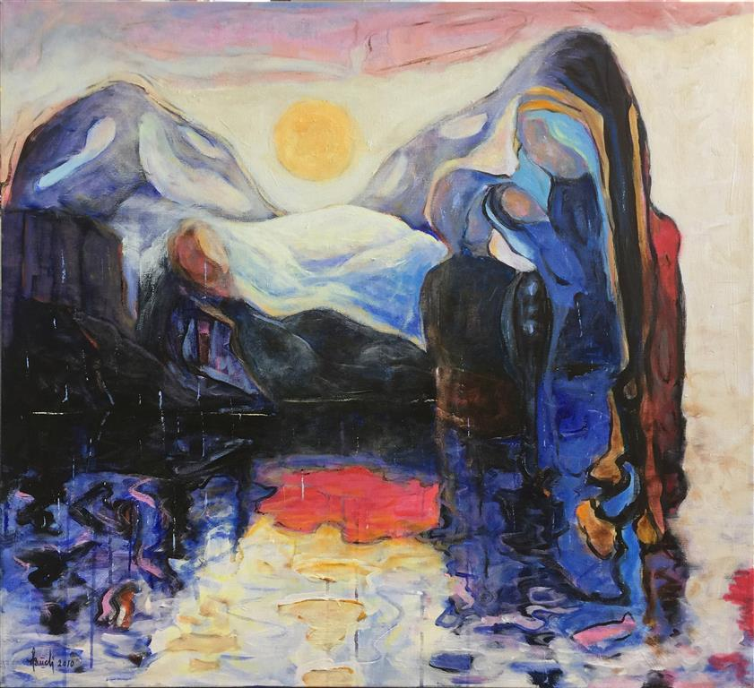 Speiling Akrylmaleri (90x100 cm) kr 18000 ur