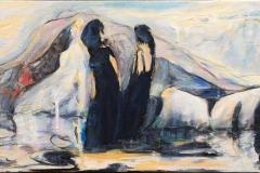 Fjellheimen Akrylmaleri (30x80 cm) kr 3000