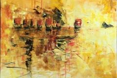 Fra sagaen II Akrylmaleri (80x80 cm) kr 8000 ur