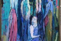 Kvinner Akrylmaleri (90x61 cm) kr 6000