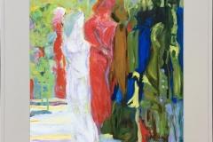 Kvinner II Akrylmaleri (81x63 cm) kr 4500 mr