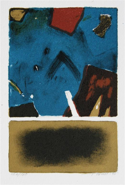 Brun bakgrunn Litografi (15x10 cm) kr 300 ur