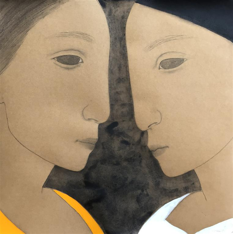 Face to face I Akryl på papir(60x60 cm) kr 5600 ur