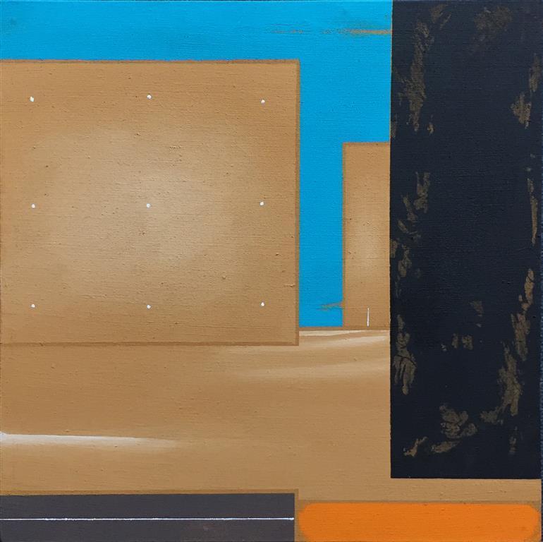 Komposisjon I Akrylmaleri (40x40 cm) kr 5500 ur