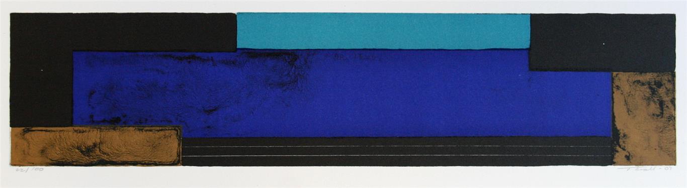 Komposisjon, blå Litografi (11x48 cm) kr 1100 ur