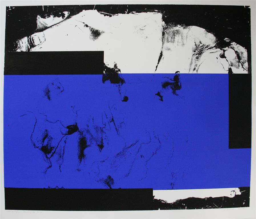 Komposisjon, blå Serigrafi (50x60 cm) kr 5000 ur