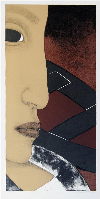 Profil, brun Litografi (41x20 cm) kr 1200 ur