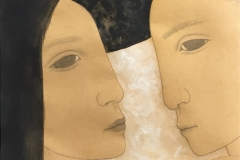 Face to face II Akryl på papir(60x60 cm) kr 5600 ur