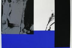 Komposisjon, blå Serigrafi (50x50 cm) kr 4000 ur