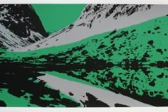 Landskap I Serigrafi (25x64 cm) kr 3000 ur