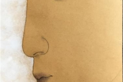 Profil Akryl på papir (60x30 cm) kr 4500 ur