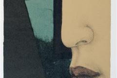 Profil, grønn Litografi (41x20 cm) kr 1200 ur