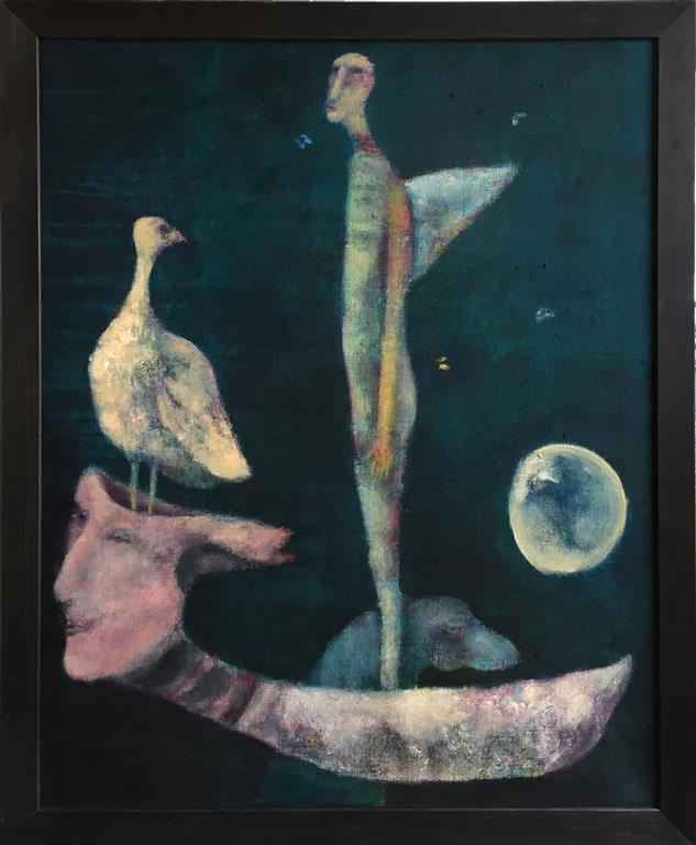 Helt stille Akrylmaleri (81x65 cm) kr 10000 mr
