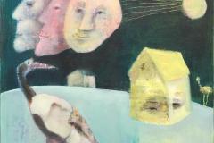 Extended moon Akrylmaleri (50x50 cm) kr 4800 ur