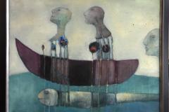 En slags fisketur Akrylmaleri (73x92 cm) kr 15000 mr