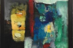 Hva er nå det III? Akrylmaleri (60x60 cm) kr 6500 mr
