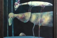 Store høyder Akrylmaleri (73x60 cm) kr 8000 mr