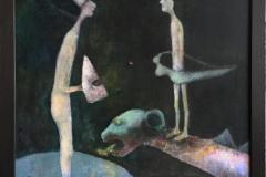 Vær mitt skjold og verga Akrylmaleri (54x65 cm) kr 6000 mr