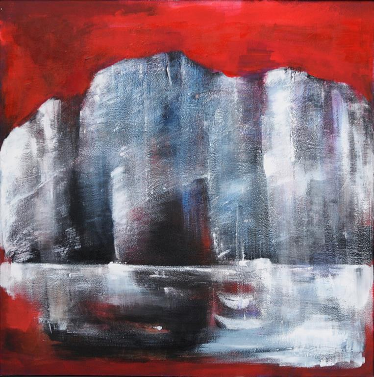 Grete Skoe. Los Gigantes Akrylmaleri (90x90 cm) kr 11000 mr