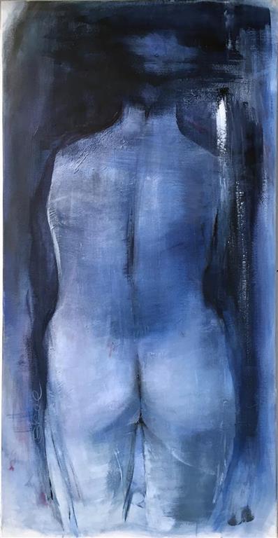 Grete Skoe. Ser deg i morgon Akrylmaleri (100x50 cm) kr 8900 ur
