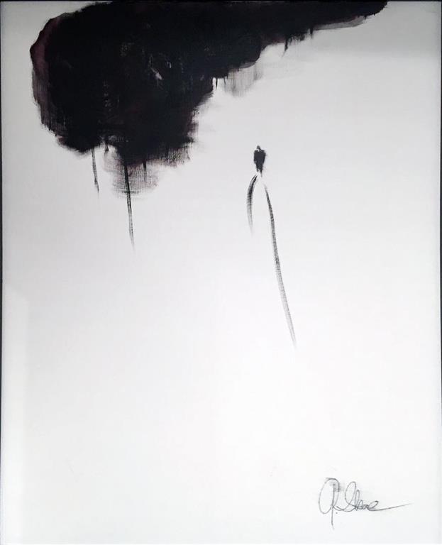 Grete Skoe. Tid kommer Akrylmaleri (100x80 cm) kr 11000 mr