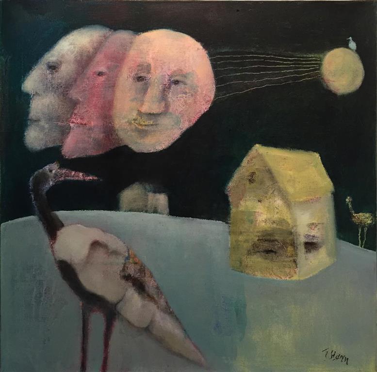 Trine Storen. Extended moon Akrylmaleri (50x50 cm) kr 4800 ur