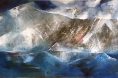 Grete Skoe. Mitt Vestland Akrylmaleri (80x150 cm) kr 15000 ur