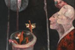 Trine Storen. A eldest sammen Akrylmaleri (65x54 cm) kr 7200 mr