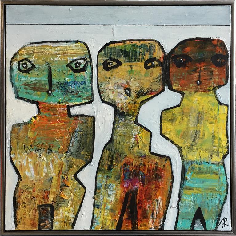 Belle femmes Akrylmaleri (70x70 cm) kr 6500 mr