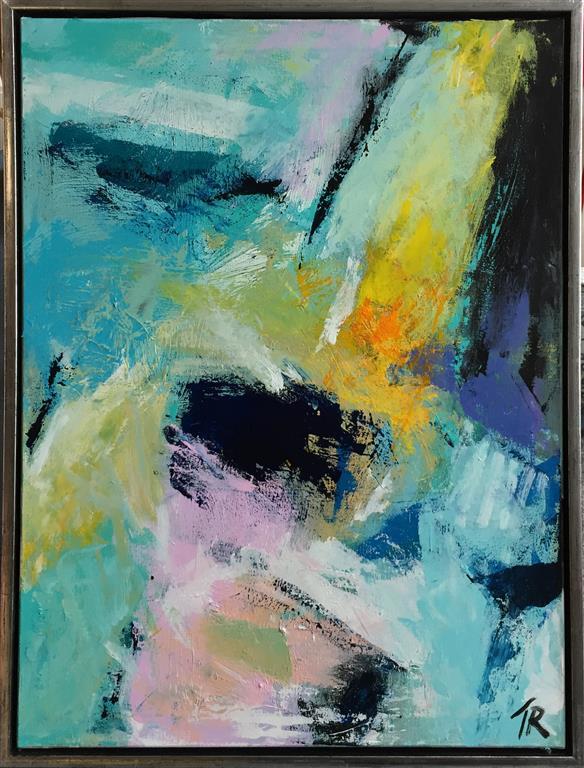Blue temper Akrylmaleri (80x60 cm) kr 6500 mr