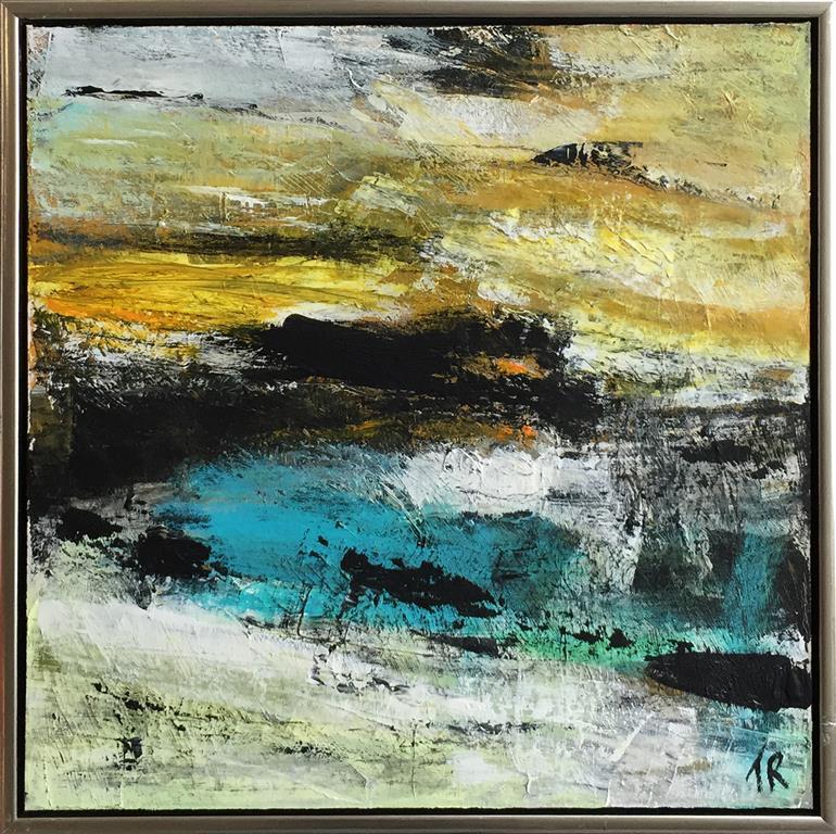 Mellem lys og mørke Akrylmaleri (60x60 cm) kr 5000 mr