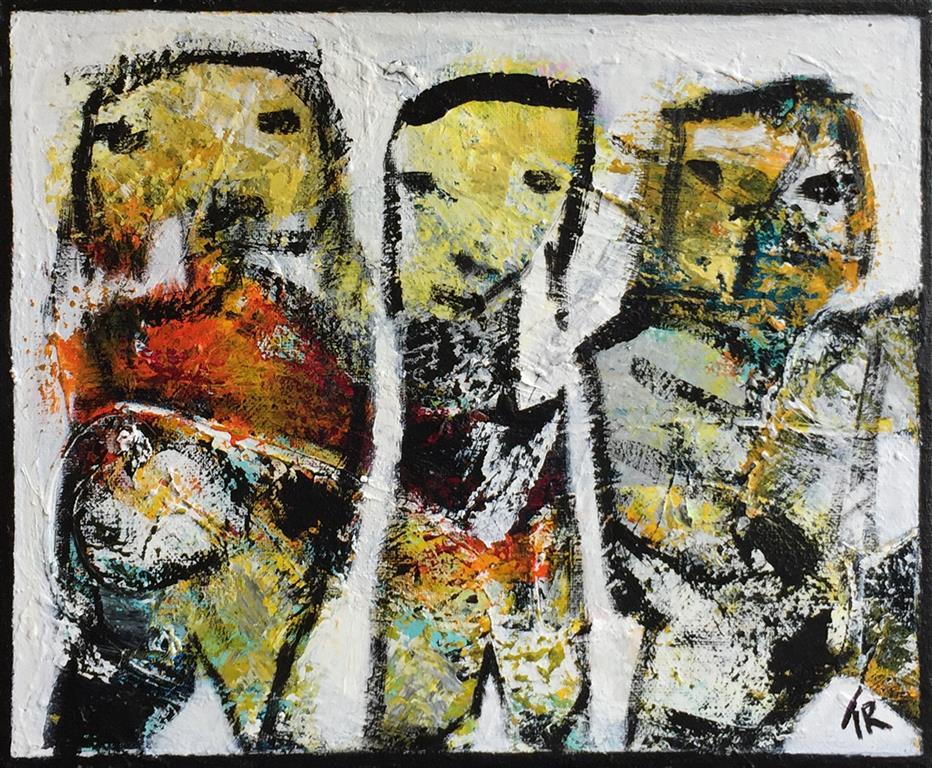 Smalltalkers II Akrylmaleri (50x60 cm) kr 4500 ur