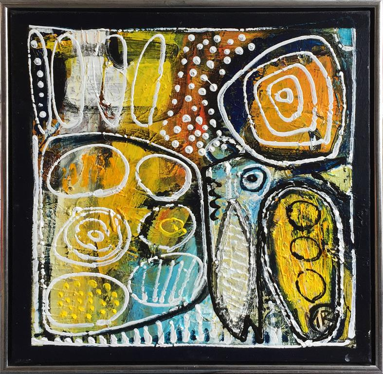 The reef Akrylmaleri (60x60 cm) kr 5000 mr