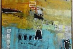 På rette spor Akrylmaleri (80x100 cm) kr 9500 mr