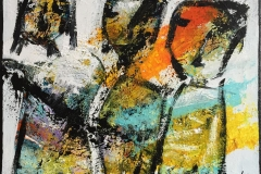 Smalltalkers I Akrylmaleri (50x60 cm) kr 4500 ur