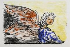 Engel II Litografi 19x27 cm 900 ur