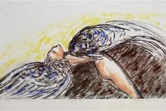 Engel IV Litografi 20x42 cm 1100 ur