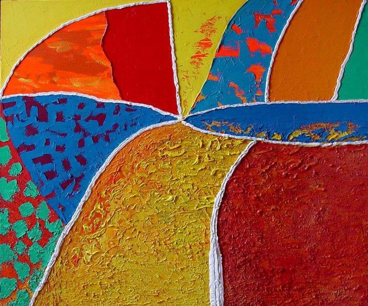 Kompass-rosen Olje pa lerret (100x120 cm) kr 39000 ur