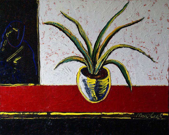 Stilleben med blomsten Olje pa lerret (80x100 cm) kr 29000 ur